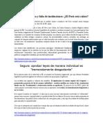 Economía Peruana y Falta de Instituciones