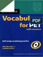 Vocabulary for PET