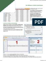 Excel - Les Tableaux Croisés Dynamiques