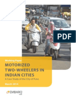 Motorized Two Wheelers Indian Cities Pune EMBARQ India
