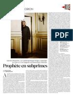 Portrait Paul Jorion - Libération 17.12.2009