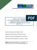 NIVEL SECUNDARIO Lineamientos Presentación Proyectos 2014
