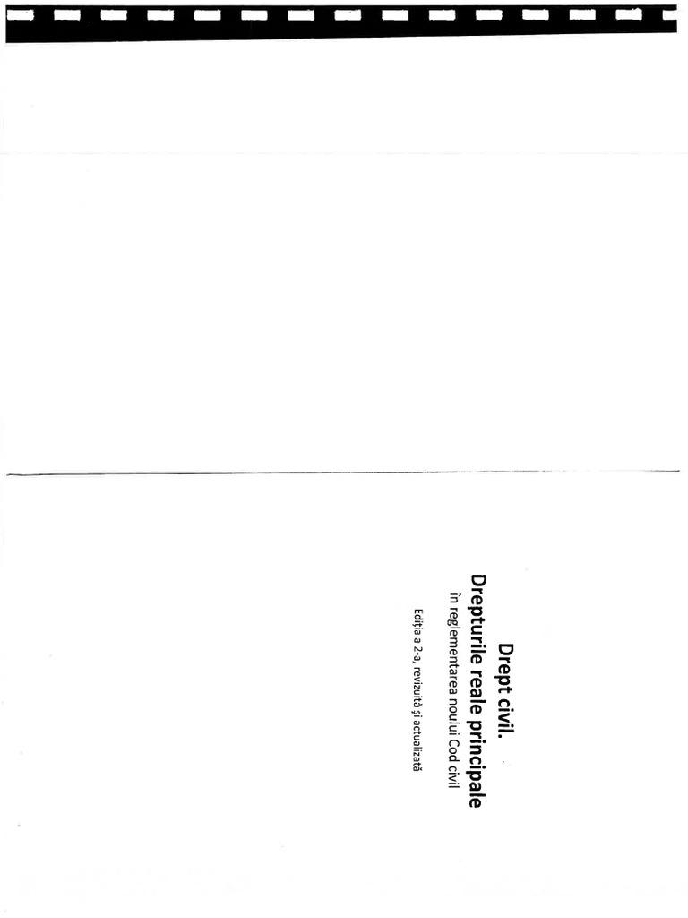 Drept Civil. Drepturi Reale Principale, Birsan