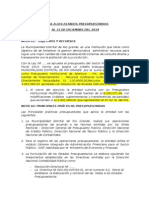 Notas a Los Estados Presupuestarios 2013 Anual Rio Grande