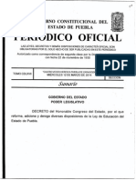 Ley de Educación del Estado de Puebla