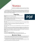 Concise Vespers Companion