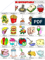 Countables and Uncountables Food Drinks Picture Worksheet