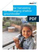 Rainwater Harvesting for Recharging Shallow Groundwater