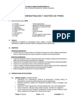 Silabo Administración y Gestión de Pymes Fcag - Esia - Miguel 2013 Objetivos