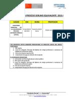 Cronograma de Proceso Serums 2015 -i