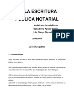 De La Escritura Pública Notarial- Maria Luisa Lozada Bravo y Otras.