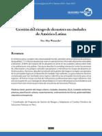 Gestión del riesgo de desastres en ciudades de América Latina