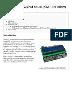 Arduino LCD KeyPad Shield