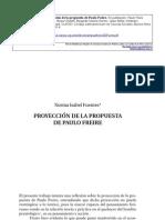 Proyeccion de la propuesta de P Freire