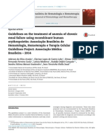 Guidelines on the Treatment of Anemia of Chronic Renal Failure Using Recombinant Human Erythropoietin