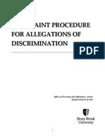 Complaint Procedure for Allegations of Discrimination