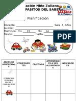 Planificación de Preescolar