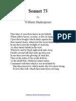 The Sonnets 073 Sonnet 73 (1)