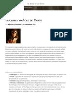 Nociones Básicas de Canto | Web Oficial de Anima Adversa