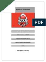 XIX Boletín Informativo Semanal UCR 2015