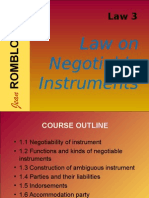 Lecture Law on Negotiable instrument
