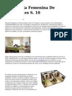 <h1>Residencia Femenina De Estudiantes S. 10</h1>