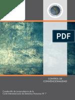N° 7.- CONTROL DE CONVENCIONALIDAD Cuadernillo de Jurisprudencia de la CIDH
