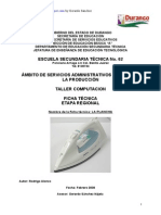 Analisis de Objeto Tecnico de La Plancha