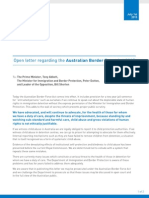 Letter to Prime Minister Tony Abbott