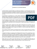 Comunicado de Prensa No.2