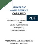 Strategic Management Case One