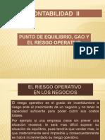 CAP 1 - Punto Equilibrio y GAO 2015