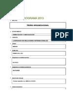 Programa Teoria Organizacional