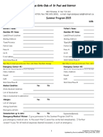 Registration Forms Summer Program 2015