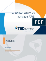Azure vs Amazon