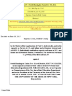 Matter of Paul T. v South Huntington Union Free Sch. Dist. (2015 NY Slip Op 25207)