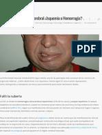 Enfermedad Vascular Cerebral ¿Isquemia o Hemorragia? | Sapiens Medicus