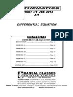 Differential Eqn TS 12th E