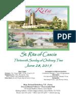 Saint Rita Parish Bulletin 6/28/2015