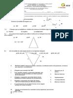 Examen de Matemáticas de Segundo Grado Del Primer Periodo (Reparado)