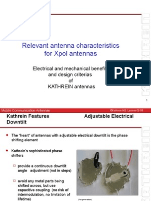 Kathrein Antenna Features Highlights_6-13 | Antenna (Radio