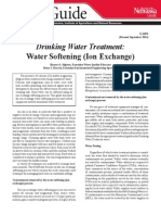 Drinking Water Treatment - Water Softening (Ion Exchange)