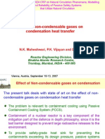 Effect of Non-condensable Gas on Condensation Heat Transfer