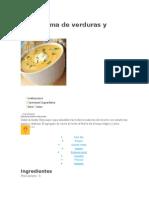 Sopa Crema de Verduras y Calabaza