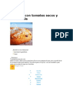 Focaccia Con Tomates Secos y Mozzarella