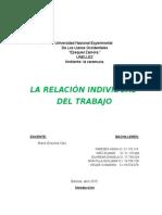 La Relacion Individual Del Trabajo