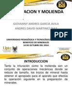 1) Trituracion y Molienda.