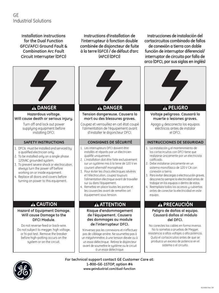 Gfci Vs Afci Manual Guide