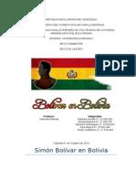Bolivar en Bolivia Informe