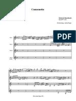 Canzonetta. BuxWV168 Score